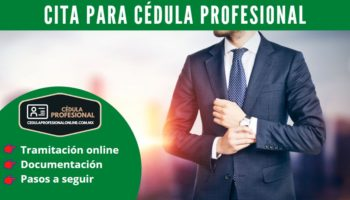 Cómo obtener una cita para la cédula profesional